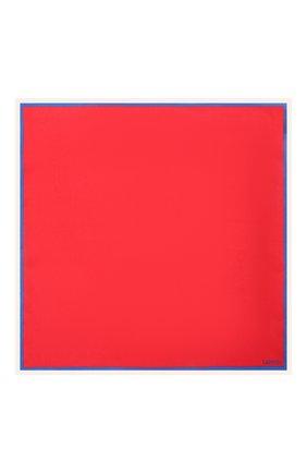 Мужской шелковый платок LANVIN красного цвета, арт. 2803/HANDKERCHIEF | Фото 3