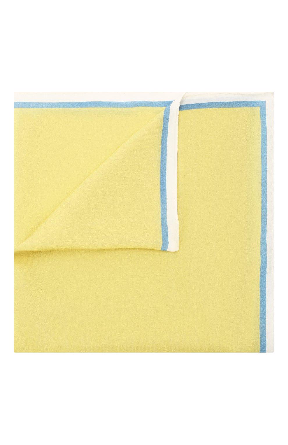Мужской шелковый платок LANVIN желтого цвета, арт. 2803/HANDKERCHIEF   Фото 1