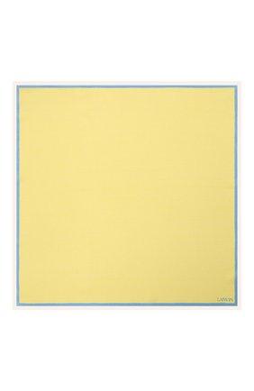 Мужской шелковый платок LANVIN желтого цвета, арт. 2803/HANDKERCHIEF   Фото 3