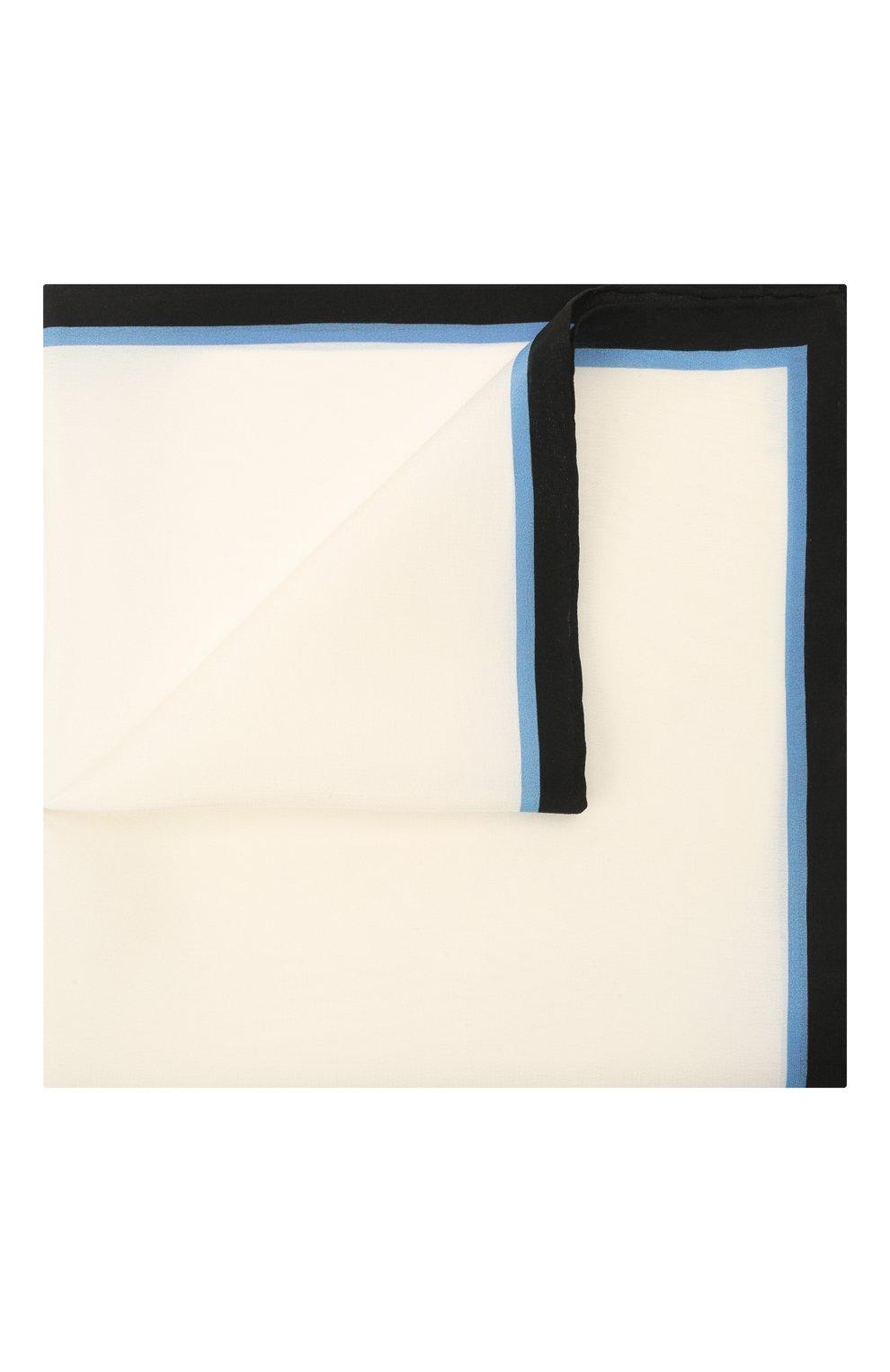 Мужской шелковый платок LANVIN белого цвета, арт. 2803/HANDKERCHIEF   Фото 1
