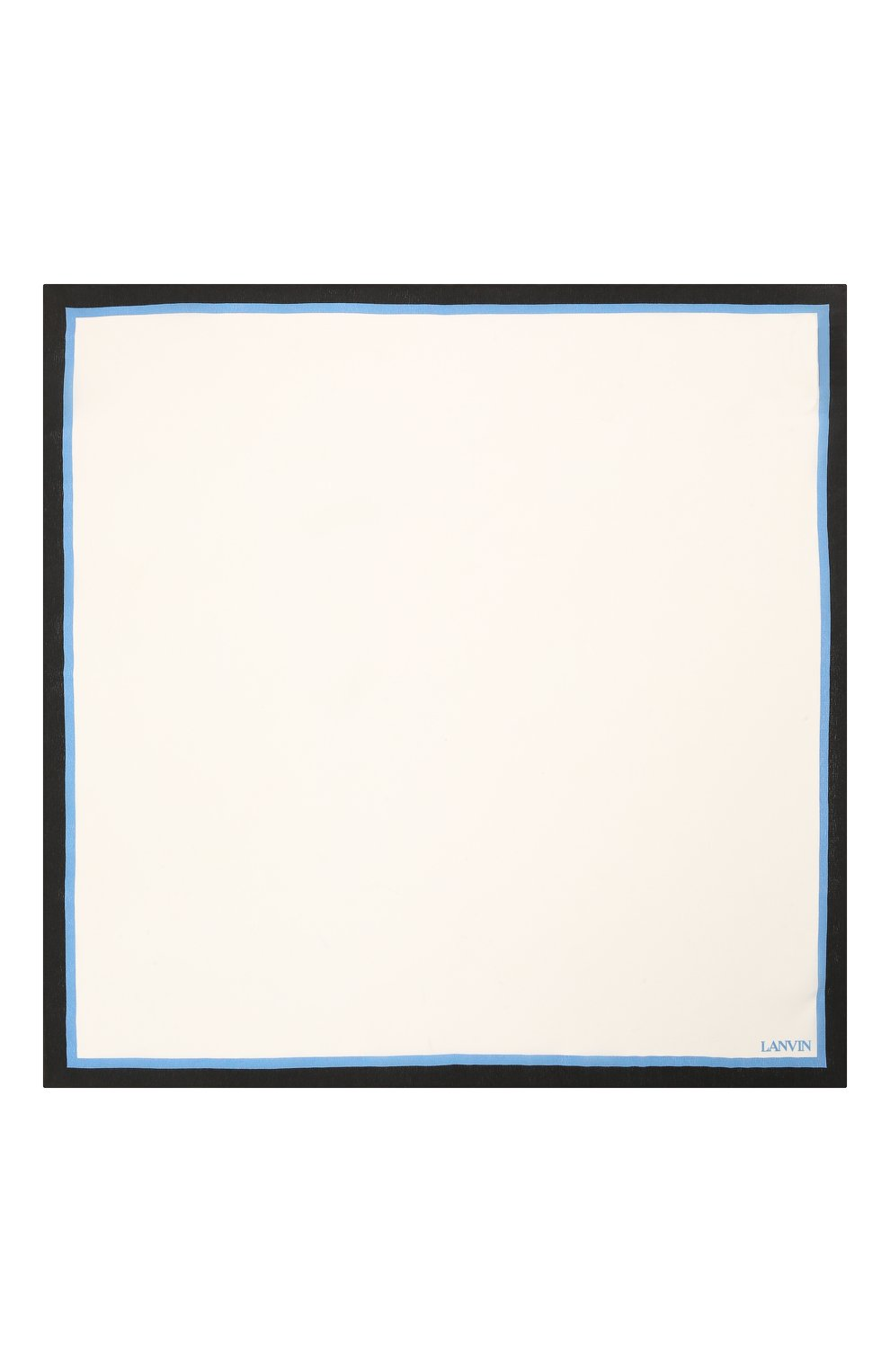 Мужской шелковый платок LANVIN белого цвета, арт. 2803/HANDKERCHIEF   Фото 3