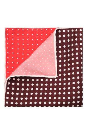 Мужской шелковый платок LANVIN красного цвета, арт. 2806/HANDKERCHIEF | Фото 1
