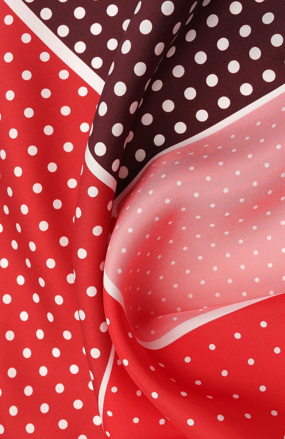 Мужской шелковый платок LANVIN красного цвета, арт. 2806/HANDKERCHIEF | Фото 2