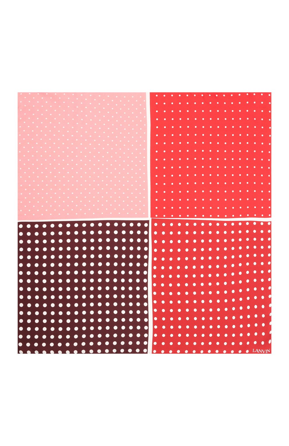 Мужской шелковый платок LANVIN красного цвета, арт. 2806/HANDKERCHIEF | Фото 3
