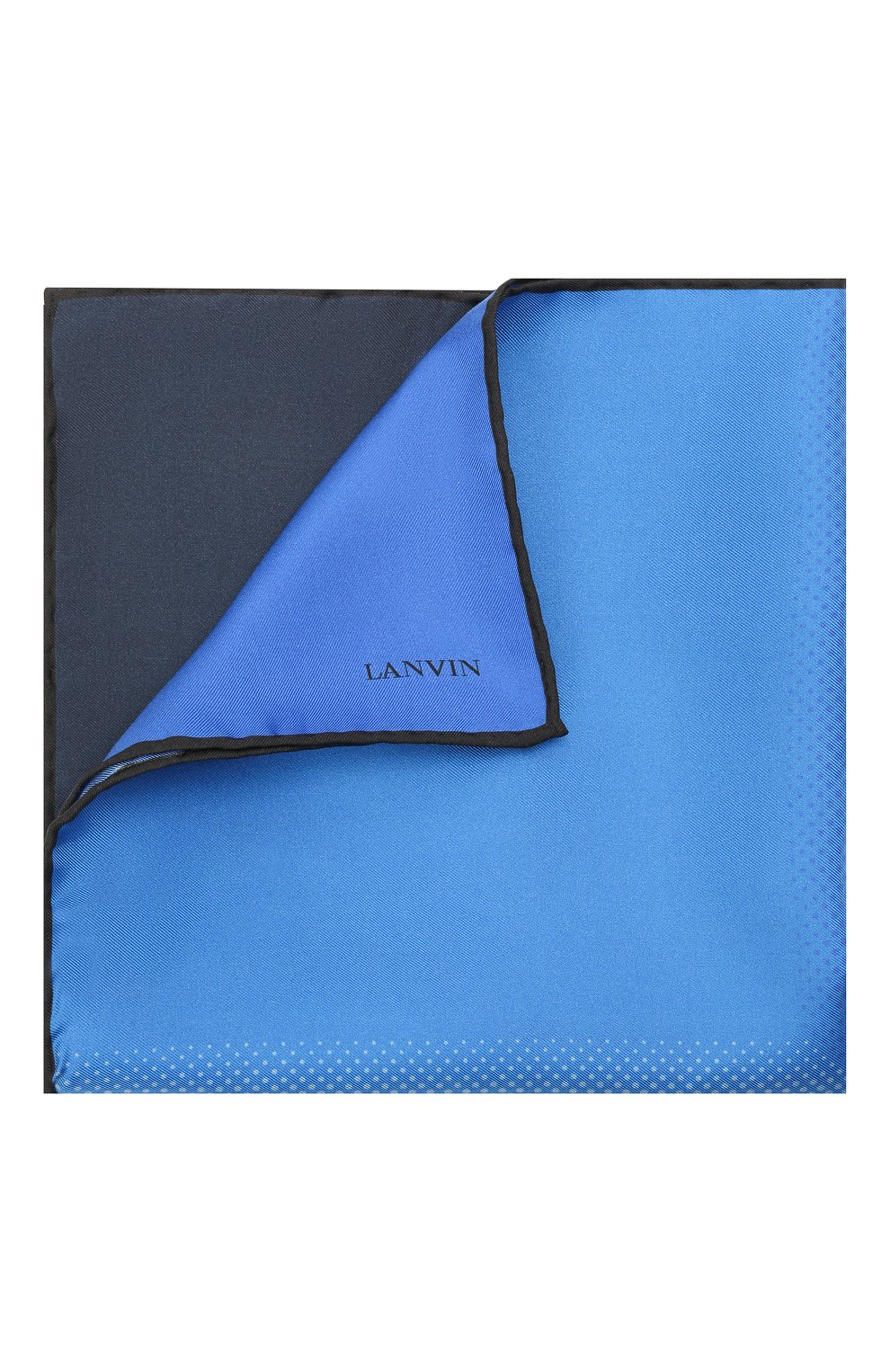 Мужской шелковый платок LANVIN синего цвета, арт. 2809/HANDKERCHIEF   Фото 1