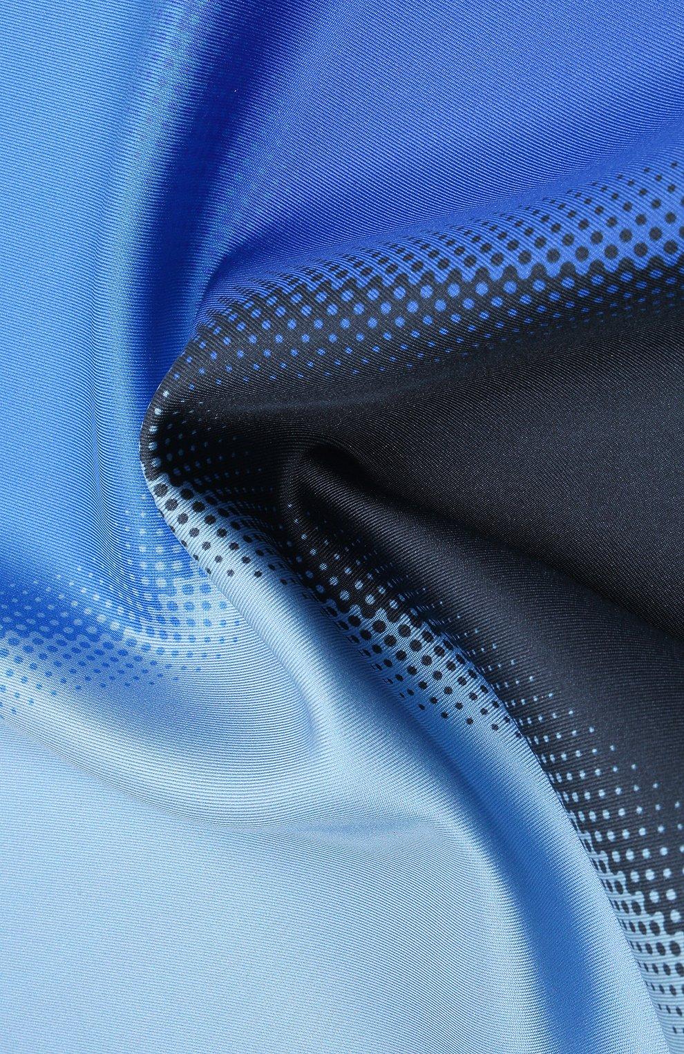 Мужской шелковый платок LANVIN синего цвета, арт. 2809/HANDKERCHIEF   Фото 2
