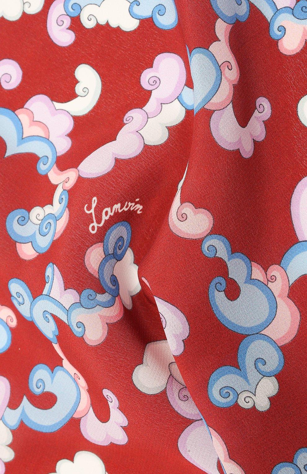 Мужской шелковый платок LANVIN бордового цвета, арт. 2815/HANDKERCHIEF   Фото 2