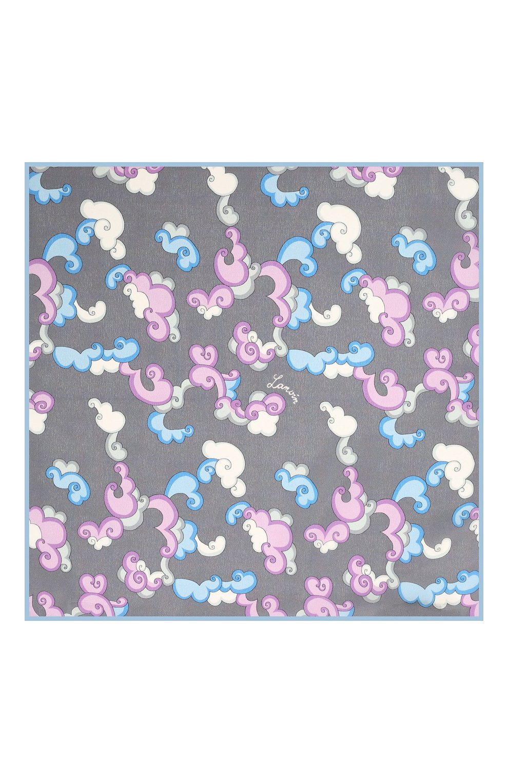 Мужской шелковый платок LANVIN серого цвета, арт. 2815/HANDKERCHIEF   Фото 3