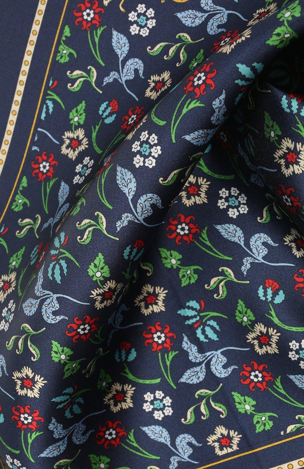 Мужской шелковый платок LANVIN темно-синего цвета, арт. 2830/HANDKERCHIEF   Фото 2