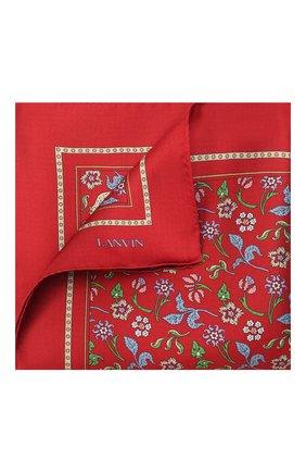 Мужской шелковый платок LANVIN красного цвета, арт. 2830/HANDKERCHIEF | Фото 1