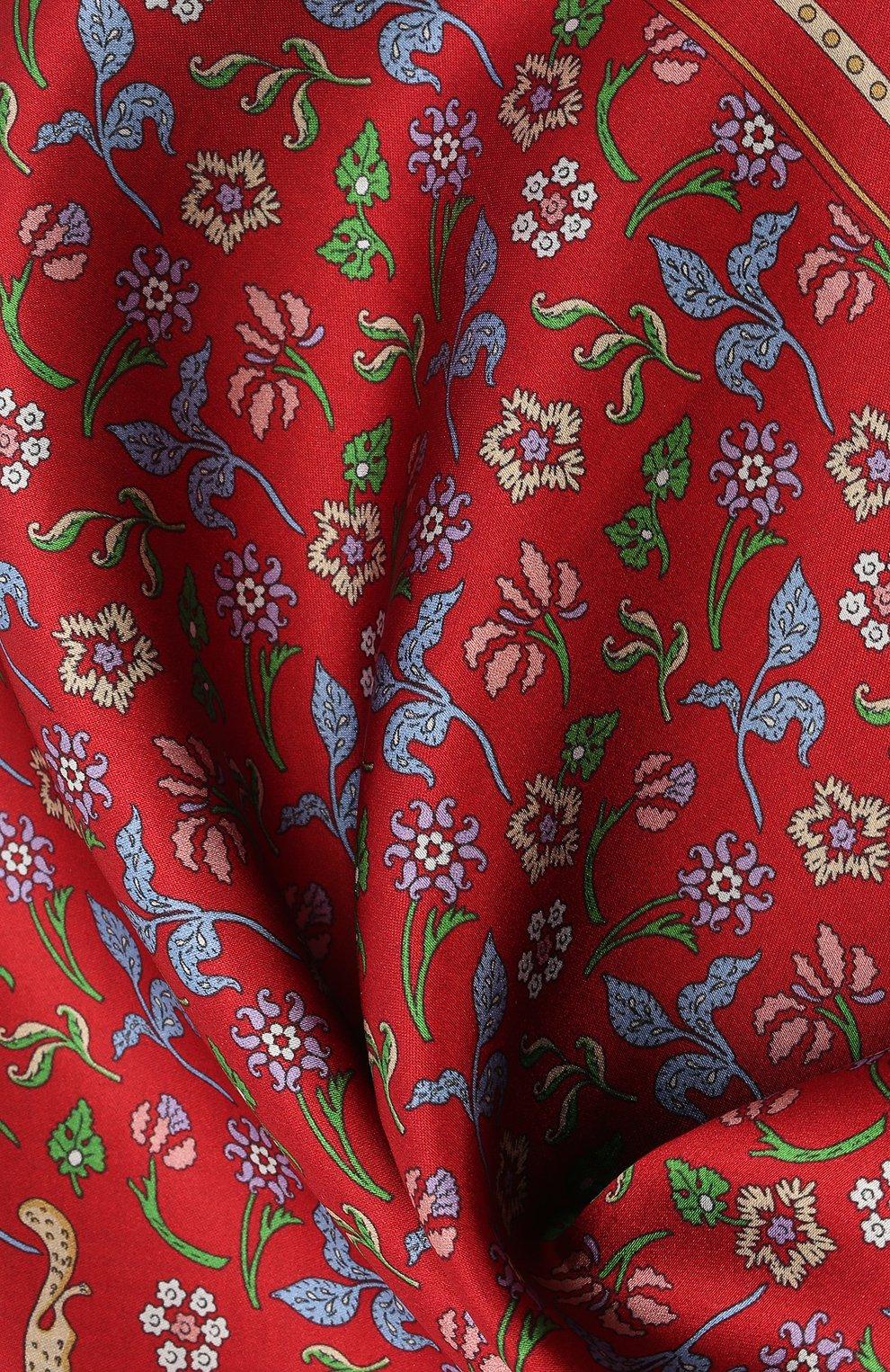 Мужской шелковый платок LANVIN красного цвета, арт. 2830/HANDKERCHIEF | Фото 2