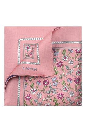 Мужской шелковый платок LANVIN розового цвета, арт. 2830/HANDKERCHIEF | Фото 1