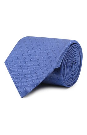 Мужской шелковый галстук LANVIN синего цвета, арт. 2050/TIE   Фото 1