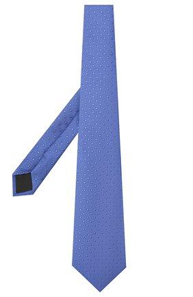 Мужской шелковый галстук LANVIN синего цвета, арт. 2050/TIE   Фото 2