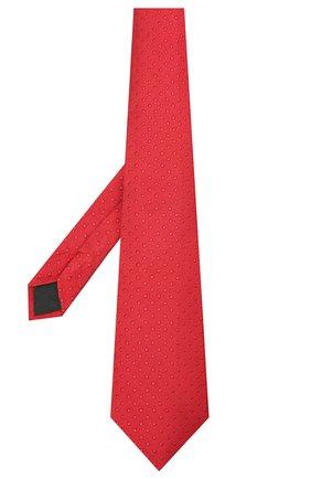 Мужской шелковый галстук LANVIN красного цвета, арт. 2050/TIE | Фото 2 (Материал: Шелк, Текстиль; Принт: С принтом)