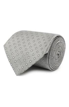 Мужской шелковый галстук LANVIN серого цвета, арт. 2050/TIE   Фото 1