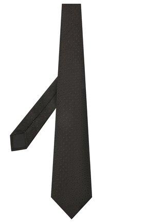 Мужской шелковый галстук LANVIN черного цвета, арт. 2050/TIE | Фото 2