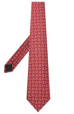 Мужской шелковый галстук LANVIN бордового цвета, арт. 2059/TIE   Фото 2