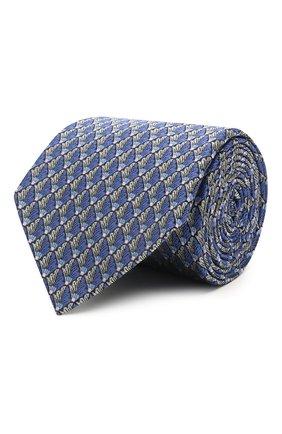 Мужской шелковый галстук LANVIN синего цвета, арт. 2065/TIE   Фото 1
