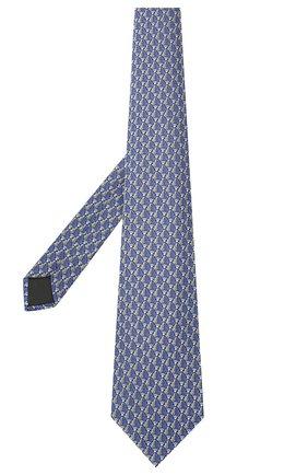 Мужской шелковый галстук LANVIN синего цвета, арт. 2065/TIE   Фото 2