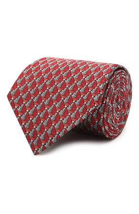 Мужской шелковый галстук LANVIN красного цвета, арт. 2065/TIE | Фото 1 (Материал: Текстиль, Шелк; Принт: С принтом)