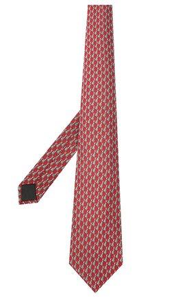 Мужской шелковый галстук LANVIN красного цвета, арт. 2065/TIE | Фото 2 (Материал: Текстиль, Шелк; Принт: С принтом)