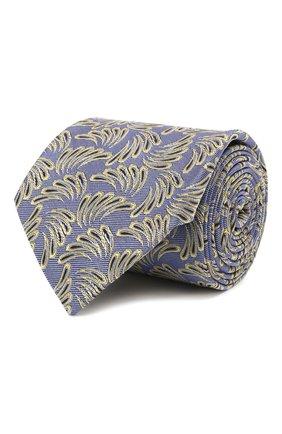 Мужской шелковый галстук LANVIN сиреневого цвета, арт. 2089/TIE | Фото 1