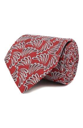 Мужской шелковый галстук LANVIN красного цвета, арт. 2089/TIE | Фото 1 (Материал: Текстиль, Шелк; Принт: С принтом)