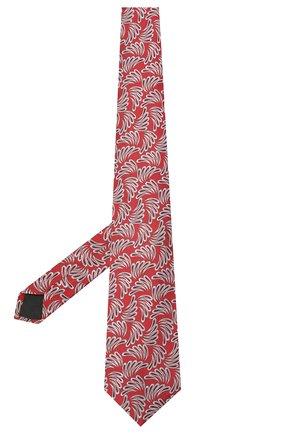 Мужской шелковый галстук LANVIN красного цвета, арт. 2089/TIE | Фото 2 (Материал: Текстиль, Шелк; Принт: С принтом)