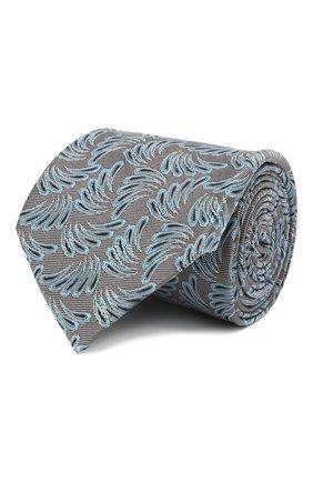 Мужской шелковый галстук LANVIN серого цвета, арт. 2089/TIE   Фото 1