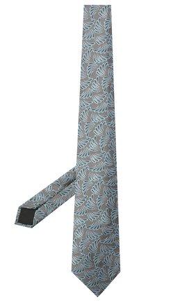 Мужской шелковый галстук LANVIN серого цвета, арт. 2089/TIE   Фото 2