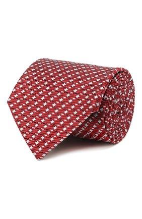 Мужской шелковый галстук LANVIN красного цвета, арт. 2098/TIE | Фото 1 (Материал: Шелк, Текстиль; Принт: С принтом)