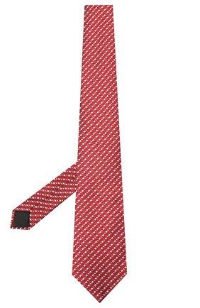 Мужской шелковый галстук LANVIN красного цвета, арт. 2098/TIE | Фото 2 (Материал: Шелк, Текстиль; Принт: С принтом)