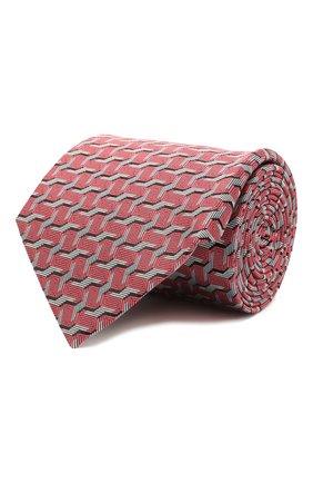 Мужской шелковый галстук LANVIN розового цвета, арт. 2101/TIE | Фото 1