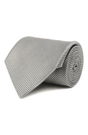 Мужской шелковый галстук LANVIN серого цвета, арт. 2110/TIE   Фото 1
