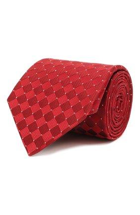 Мужской шелковый галстук LANVIN красного цвета, арт. 2145/TIE | Фото 1 (Материал: Шелк, Текстиль; Принт: С принтом)