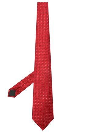 Мужской шелковый галстук LANVIN красного цвета, арт. 2145/TIE | Фото 2 (Материал: Шелк, Текстиль; Принт: С принтом)