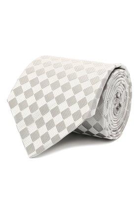 Мужской шелковый галстук LANVIN серого цвета, арт. 2145/TIE   Фото 1
