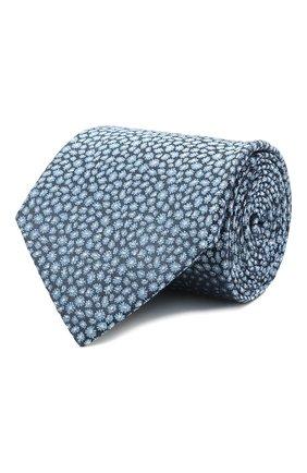 Мужской шелковый галстук LANVIN синего цвета, арт. 2230/TIE   Фото 1