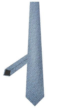 Мужской шелковый галстук LANVIN синего цвета, арт. 2230/TIE   Фото 2