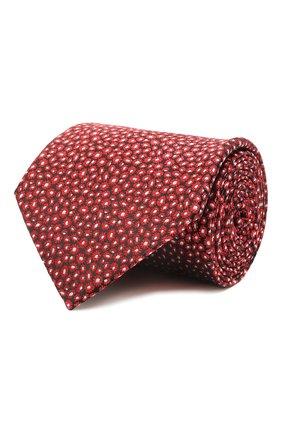 Мужской шелковый галстук LANVIN красного цвета, арт. 2230/TIE | Фото 1 (Материал: Текстиль, Шелк; Принт: С принтом)