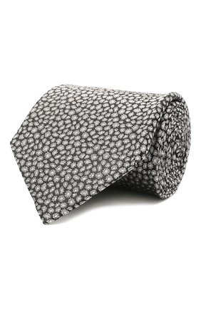 Мужской шелковый галстук LANVIN серого цвета, арт. 2230/TIE   Фото 1