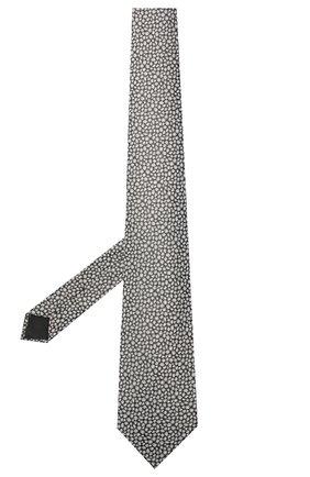 Мужской шелковый галстук LANVIN серого цвета, арт. 2230/TIE   Фото 2