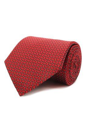 Мужской шелковый галстук LANVIN красного цвета, арт. 2236/TIE | Фото 1 (Материал: Шелк, Текстиль; Принт: С принтом)