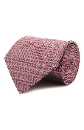 Мужской шелковый галстук LANVIN розового цвета, арт. 2236/TIE | Фото 1