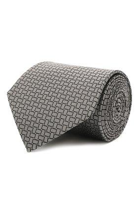 Мужской шелковый галстук LANVIN серого цвета, арт. 2236/TIE   Фото 1