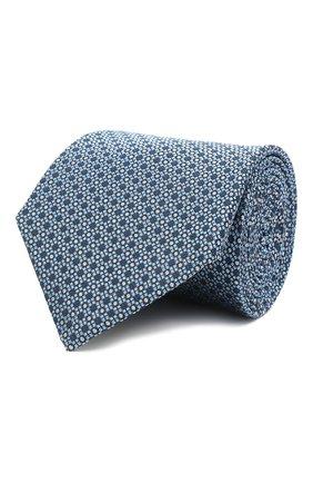 Мужской шелковый галстук LANVIN голубого цвета, арт. 2239/TIE   Фото 1