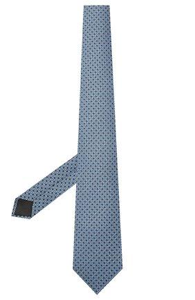Мужской шелковый галстук LANVIN голубого цвета, арт. 2239/TIE   Фото 2