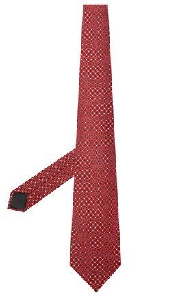 Мужской шелковый галстук LANVIN красного цвета, арт. 2239/TIE | Фото 2 (Материал: Текстиль, Шелк; Принт: С принтом)