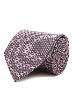 Мужской шелковый галстук LANVIN розового цвета, арт. 2239/TIE | Фото 1